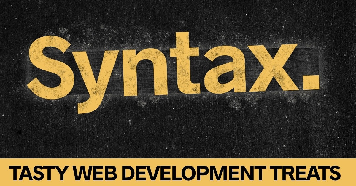 cover image Syntax podcast