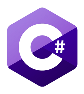 Hire C developers, a small white square showing the C logo
