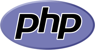 Hire PHP developers, a small white square showing the PHP logo