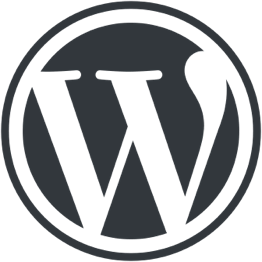 Hire Wordpress developers, a small white square showing the Wordpress logo