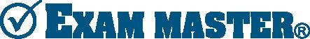 Exam Master logo Blue Coding