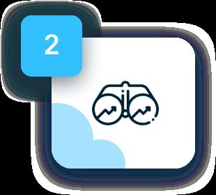 Identify the right developers - binocular icon