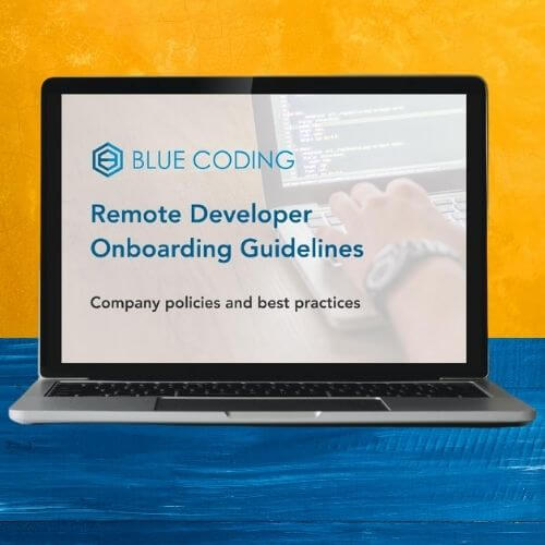 Blue Coding's remote developer onboarding guide and free template